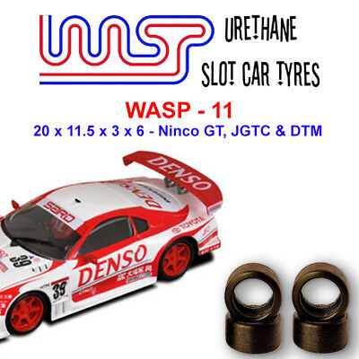 WASP 11 - Urethane Slot Car Tyres x 4 - Ninco GT, JGTC and DTM
