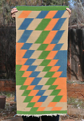 Old  Navajo  Germantown  Rug - Colorful Optical Design
