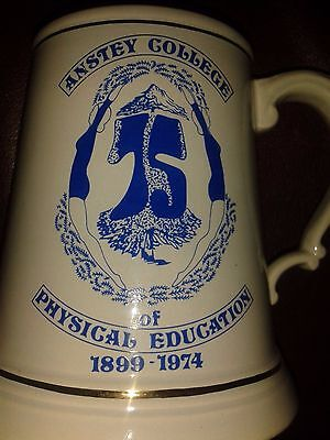 Anstey College of Physical Education 75th Anniversary Mug Tankard.