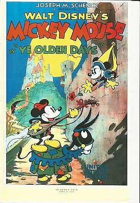 Walt Disney 11 X 17 Movie High Gloss Poster Mickey Mouse In Ye Olden Days
