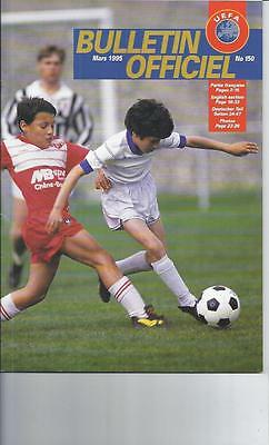 UEFA Offical Bulletin No. 150 March 1995