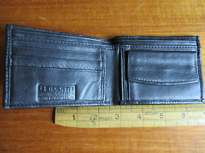 Bellini small soft black leather wallet.