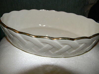 Lenox bowl- Beautiful pattern on sides , gold colored trim
