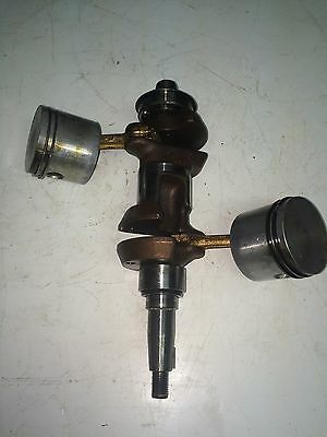 Eska, Sears Gamefisher Or Ted Williams Crankshaft Assembly With Pistons 9.9 HP