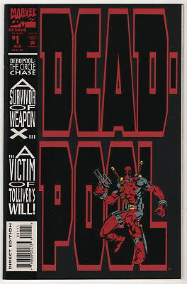 Deadpool Circle Chase 1 NM/Mint 9.8 high grade 1993 Marvel 1st self-titled comic