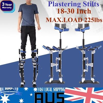 "18-30"" Adjustable Aluminum Plastering Stilts Drywall Tools  Builders BLK"