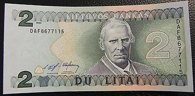 LITHUANIA - 2 litai - 1993 - Pick 54a