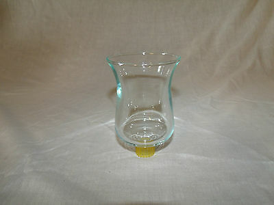 1 Translucent Green Clear Glass Vintage Home Interior Votive Cup Candle Holder