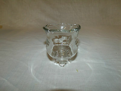 1 Clear Thick Glass Tulip Shaped Vintage Home Interior Votive Cup Candle Holder