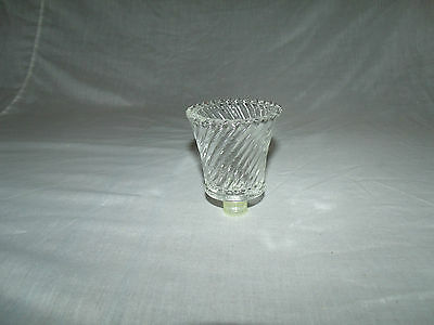 1 Clear Glass Swirl Roped Shaped Vintage Home Interior Votive Cup Candle Holder