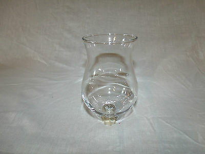 1 Thick Unique Clear Glass *vtg Home Interior Votive Cup Candle Holder   5 1/4""