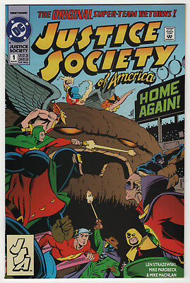 Justice Society of America #1 NM+ 9.6 high grade 1st appearance Jesse Quick 1992