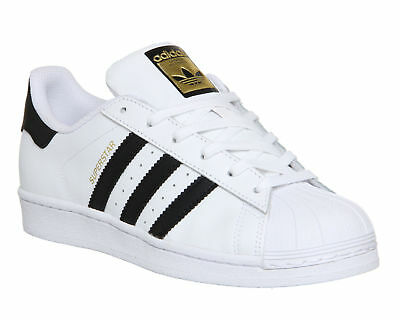 Adidas Superstar Unisex  Men's Women's WHITE BLACK FOUNDATION Trainers Shoes
