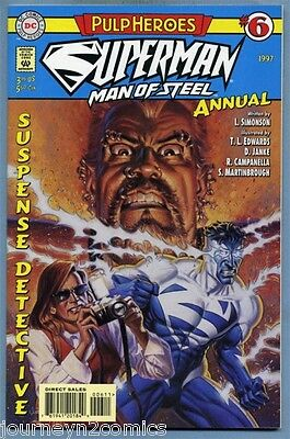 """Superman Man of Steel Annual #6 1997 """"Pulp Heroes"""" Louise Simonson Edwards DC"""