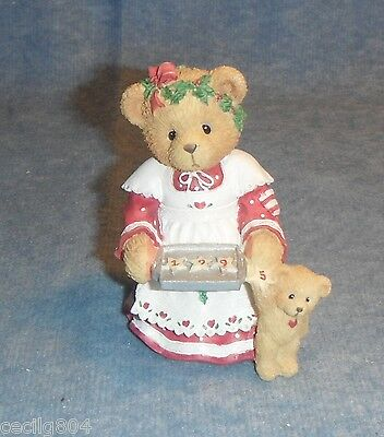 """Cherished Teddies By Enesco.... Amanda """"here's Some Cheer To Last The Year"""""""