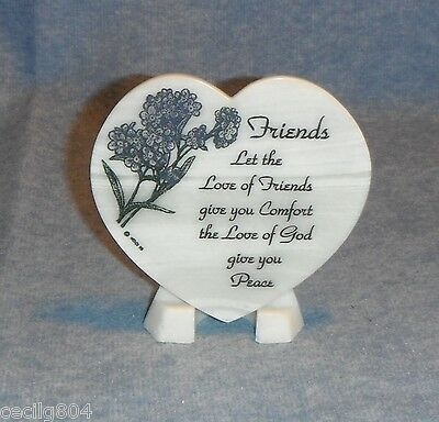 Friends  Heart Shaped Soapstone Plaque On Easel