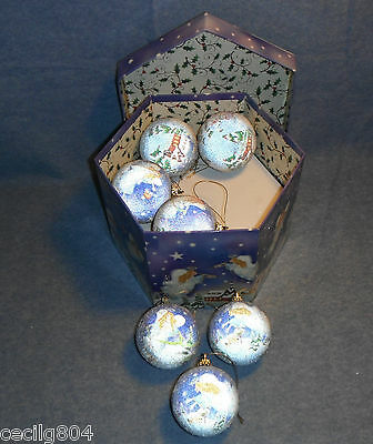 12 Beautiful Angel Glittered Hanging Ornaments With Storage Box