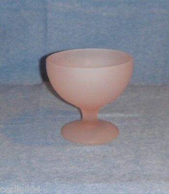 Pink Frosted Satin Finish  Bowl Indiana Glass?