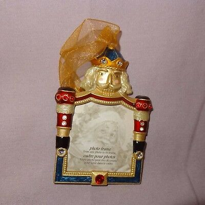 Nutcracker Photo Frame Christmas Ornament 3 inch Costco Picture Holiday