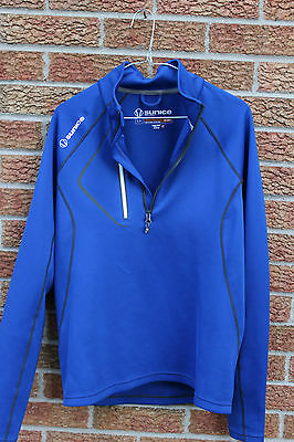 Pre-Owned Mens Sunice Sport Golf 1/2 Zip Super Lite Fx Sweater Small Msrp $60