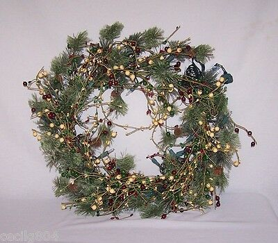 Artificial Very Berry  Lighted Christmas Wreath