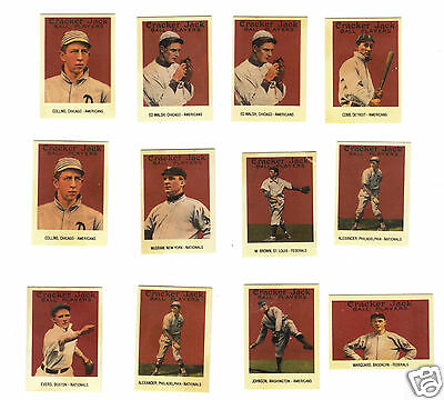 1993 Collectible Cracker Jack Baseball Cards Replicas of 1915 set