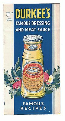 Durkee's Famous Dressing and Meat Sauce Recipe booklet