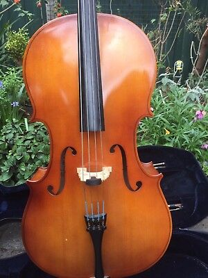 Cello, 3/4 size, with case and bows
