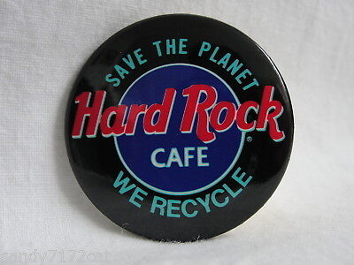 Pinback Button Hard Rock Cafe Save The Planet We Recycle Vintage