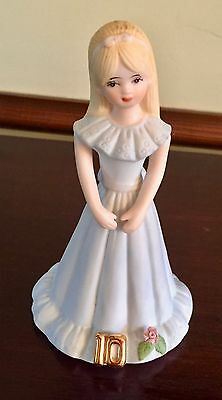 "Enesco 10th Birthday ""Growing Up Girls""  Blonde Doll Figurine"