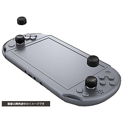 kb09 NEW Cyber Analog Stick Cover High Type (For Ps Vita) Black Japan Import F/S