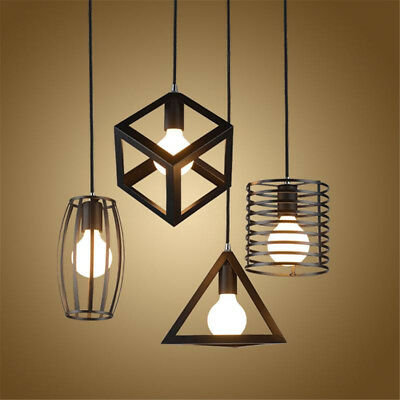 E27 Industrial Vintage Chandelier Ceiling Light Pendant Kitchen Bar Fixture Lamp