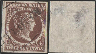 Colombia. 1876 Liberty Head. 10c. Cancelled