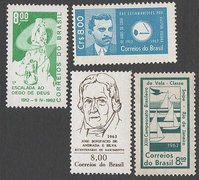 Brazil. 1962 Four MNH stamps