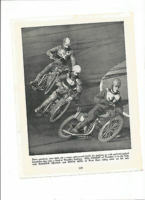 (Speedway) B & W Picture from a distressed copy of Every Boy's Book of Sport....