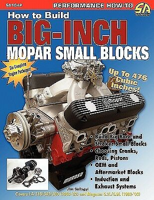 How to Build Big-Inch Mopar Small Blocks by Szilagy, Jim -Paperback