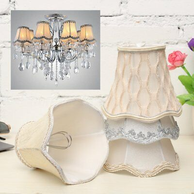Vintage Small Lace Lamp Shades Textured Fabric Ceiling Chandelier Light Covers