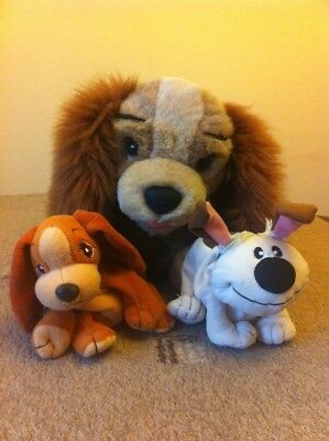 Disney VINTAGE Lady plush from Lady and the tramp + Extra Plushies