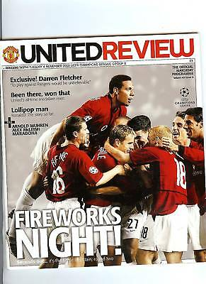 Manchester United v Rangers Champions League Football Programme 2003/04