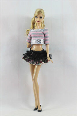 Fashion Clothes/outfit lovely Dress+shoes for Barbie doll S08