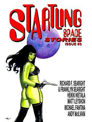 140 STARTLING SPACE STORIES #3 Rainfall chapbook. Science Fiction tales