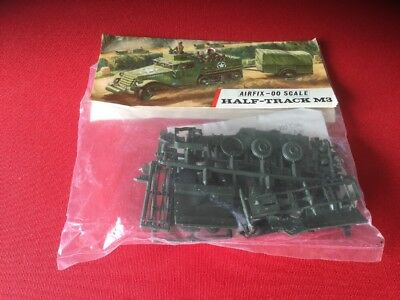 AIRFIX OO SCALE MODEL KIT  Half-Track M3. in Type 3 Red Stripe Bag, 1960er