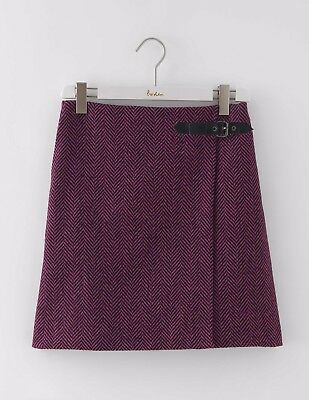 BODEN BNIB Irene Kilt Skirt - Purple/Black Herringbone - UK 14 R - Winter 2016