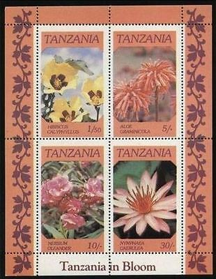Tanzania 1986 Flowers In Bloom Mnh ** Flower Fleur Blumen Flor