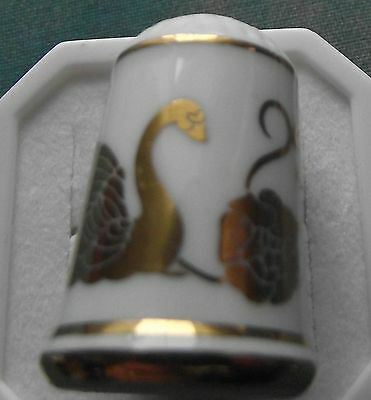 Beautiful Franklin white/gold Thimble