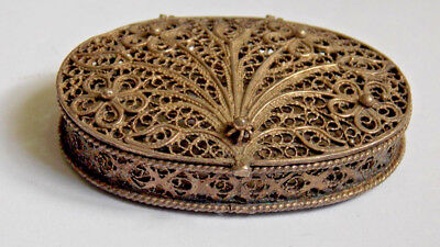 Rare 19Th Century Chinese Export Silver Filigree Box