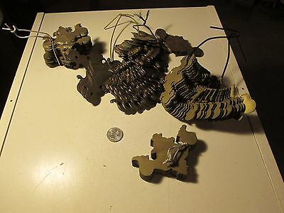 T91 Vtg Lot of Halloween Batwings Furniture Backplates Only Chippendale Drawers