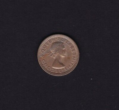 New Zealand 1956 Threepence Coin (without shoulder strap)