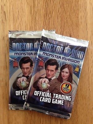 DOCTOR WHO - Monster Invasion TRADING CARDS 3xPACKETS NEW in FOIL (doc who)