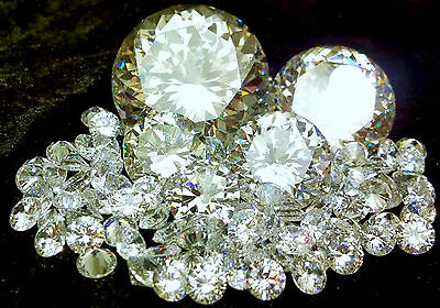 10mm 15mm 20mm 25mm 30mm   white clear cubic zirconia loose stones  CZ